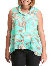 Tops - General High-Low Button down (Plus)