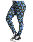 Bottoms - Miami Printed Floral Legging (plus)