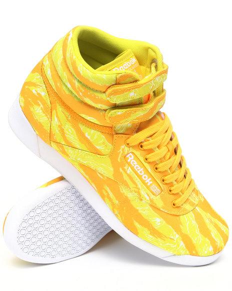 Reebok Women Yellow Freestyle Hi Intl Sneakers