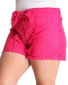 Bottoms - Zoey Crochet Shorts w/bow (plus)