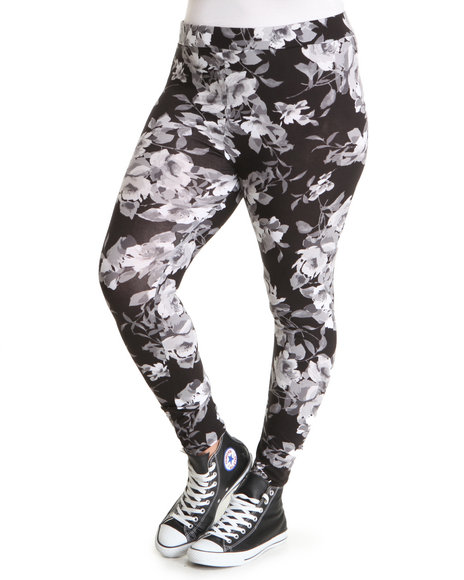 Fashion Lab Women Grey Into The Jungle Waistband Legging