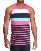 Shirts - Single Jersey Stripe Tank Top