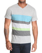 Shirts - Derick Striped V-neck tee