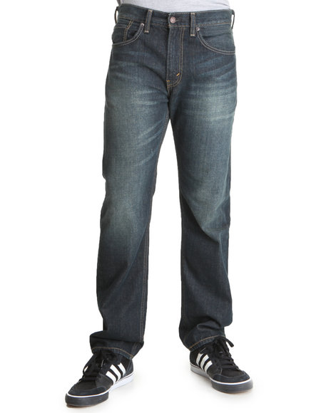 Levi's - Men  505 Straight Fit Green Frost Jeans