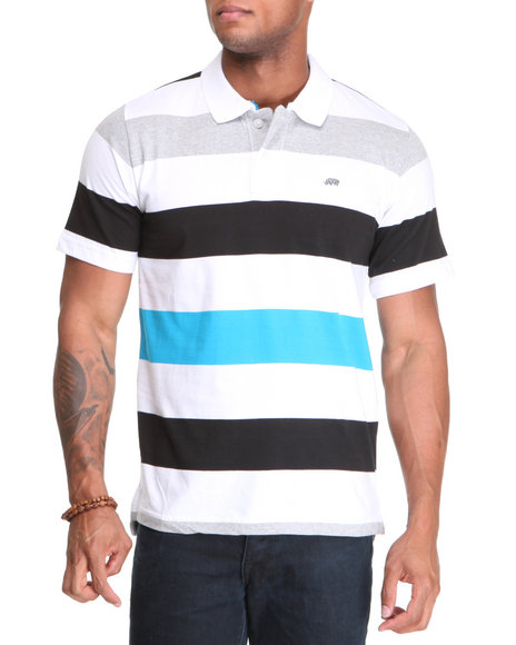 Ecko Men White Bold Multi-Color Polo