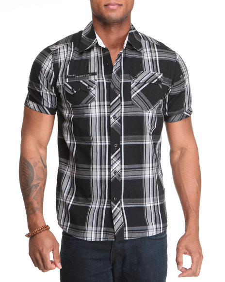 Company 81 Men Black Allan Plaid Shirt