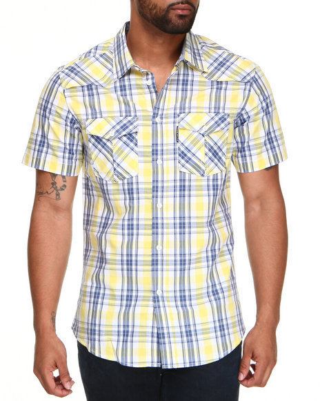 Marc Ecko Collection Men Gold Mercer Short Sleeve Woven