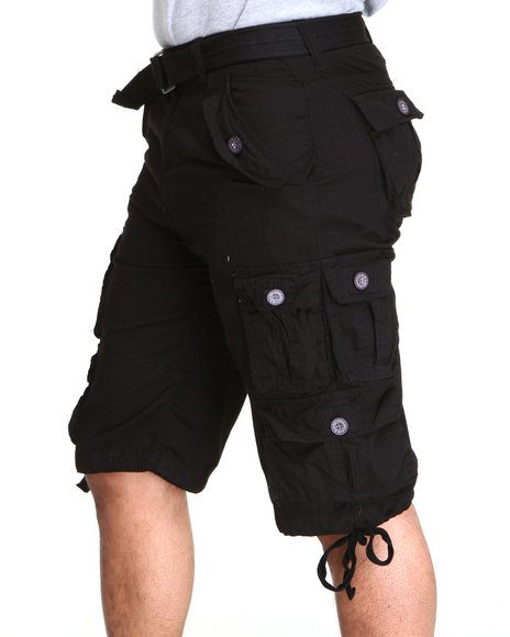 Buyers Picks - Heavy Garment Washed Belted Cargo Shorts