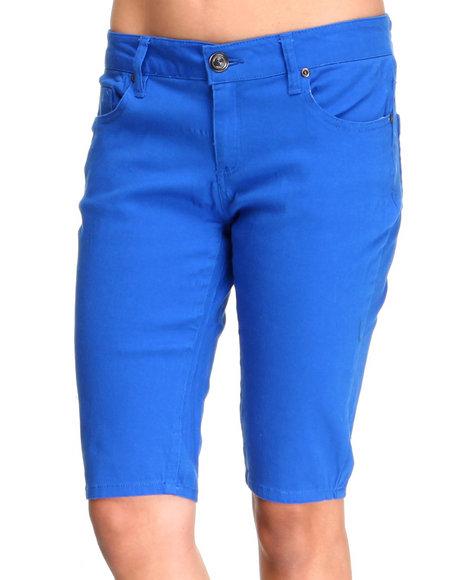 Basic Essentials - Women Blue Jean Capri Pants