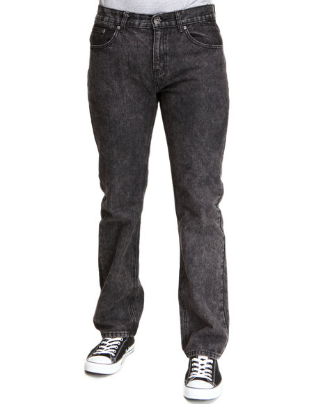 Buyers Picks Men Black Acid Wash Fashion Straight Fit Pants