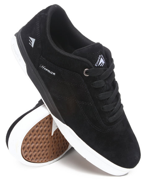 Emerica Men Black,White The Herman G6 Premium Smooth Suede Sneakers