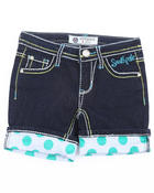 Bottoms - DENIM ROLL UP SHORTS (7-16)