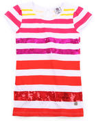 Girls - SEQUIN STRIPE TEE (7-16)
