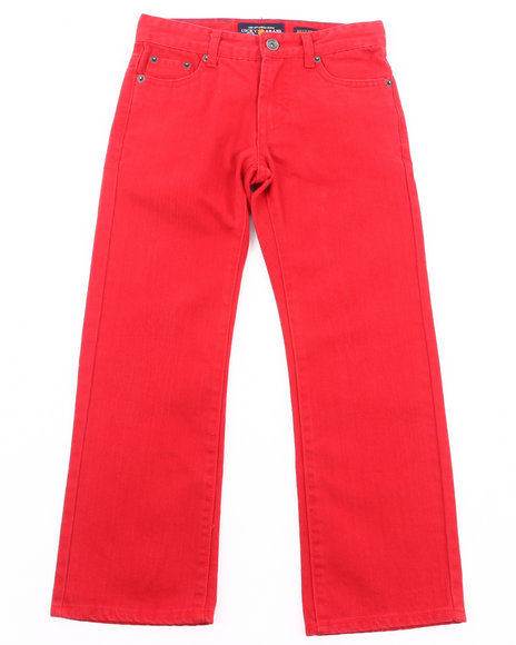 Lucky Brand - Boys Red La Brea Cooper Slim Twill Jeans (8-20)