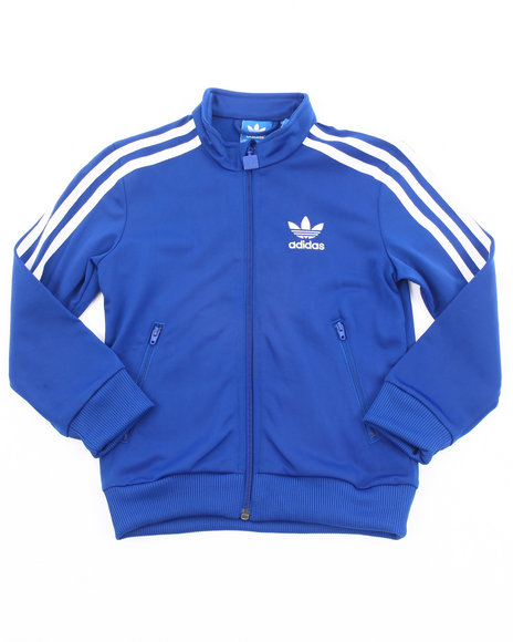 Adidas Boys Blue Firebird Track Jacket