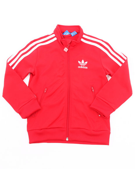 Adidas Girls Red Firebird Track Jacket