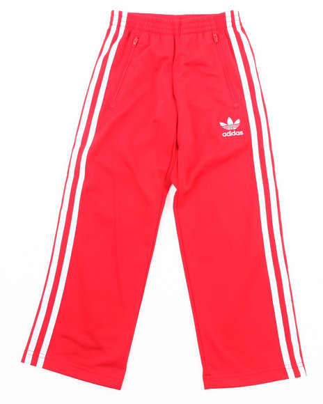Adidas Boys Red Firebird Track Pants