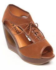 Fashion Lab - Padme Donut Wedge Shoe w/laceup