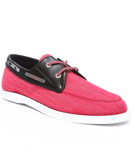 COOGI Men Red Louis 3 Chambray Boat Shoe