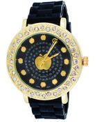 Jewelry - AB Big Gold Case Rubber Band Watch