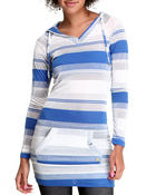 Apple Bottoms - Striped Sexy Hoodie Dress