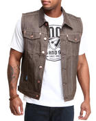 Vests - Color Raw denim Vest