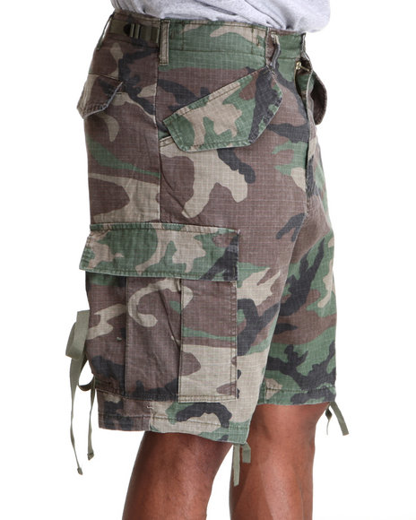 Rothco Camo Woodland Vintage Rip Stop M-65 Field Shorts