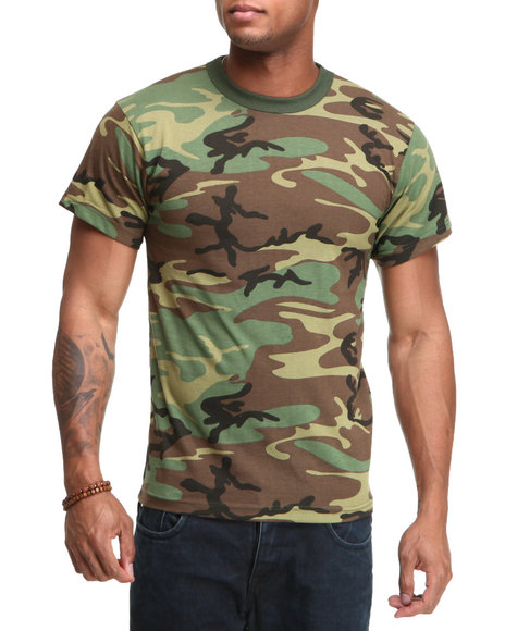 Men Camo Rothco Authentic Vintage Military S/S Tee
