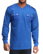 Shirts - THERMAL SHIRT WITH FRONT DUAL POCKETS