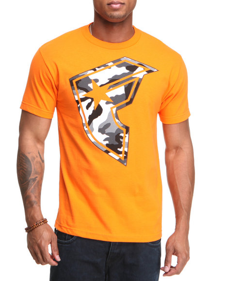 Famous Stars & Straps Men Orange Hunter Boh Tee