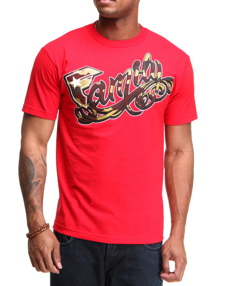 Famous Stars amp Straps Men One Of The Family Tee Red XXLarge