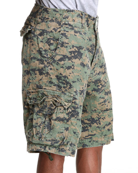 Drj Army/Navy Shop - Men Forest Green,Camo Rothco Vintage Infantry Utility Shorts