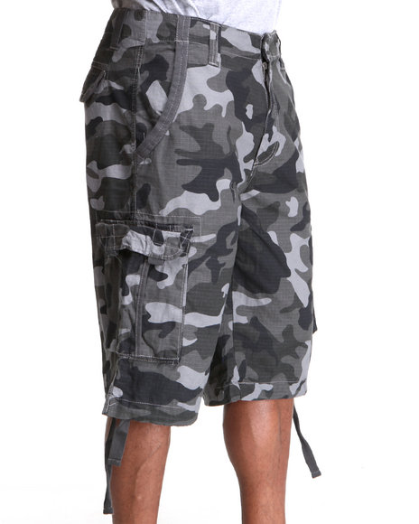 Ecko Men Black,Camo Cliffside Cargo Short
