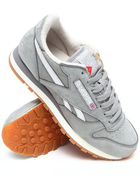 Reebok Men Grey Classic Leather Vintage Sneakers