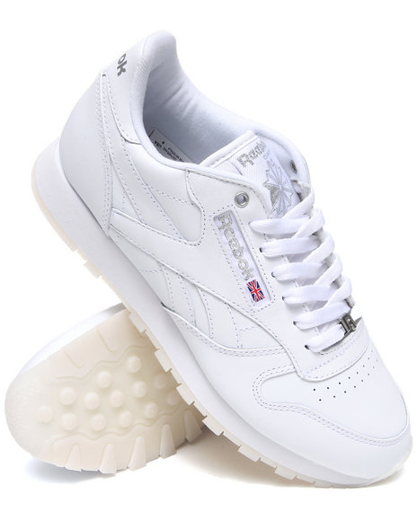 Reebok Men White Classic Leather Ice Sneakers