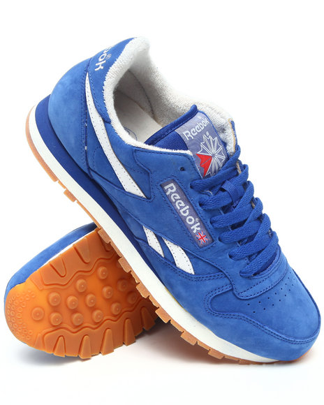 Reebok Men Blue Classic Leather Vintage Sneakers