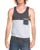 Basic Essentials - Color Block Tank w/ Chest Pocket