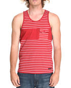 Shirts - Stripe Tank w/ Chest Pocket