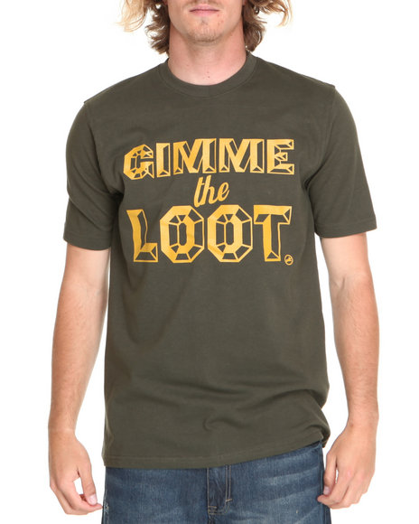 Akoo Men Green Gimme The Loot Tee