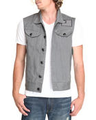 Vests - Color Twill Vest w/ Back Print