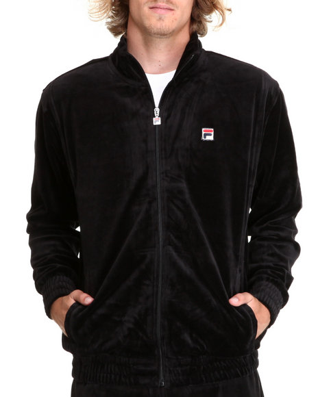 Fila Men Black Velour Jacket