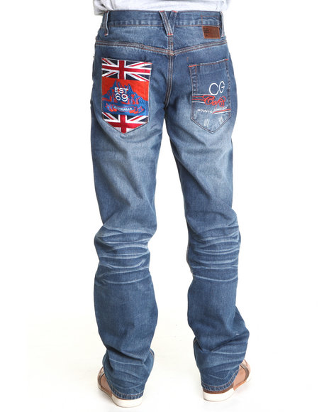 COOGI Men Indigo Expedition Indigo Blue Wash Denim Jeans