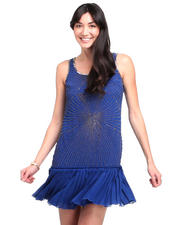 Dresses - Beaded Flapper Georgette Dress