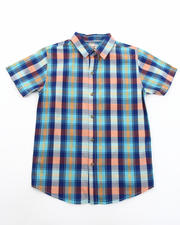 Sizes 8-20 - Big Kids - Zama Plaid Woven