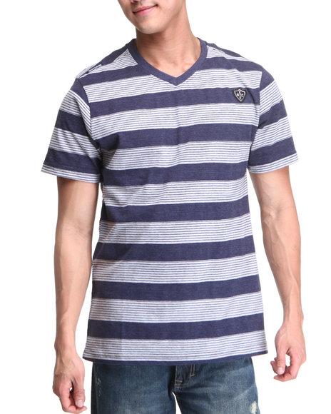 Enyce Men Grey,Navy Canyon V-Neck T-Shirt