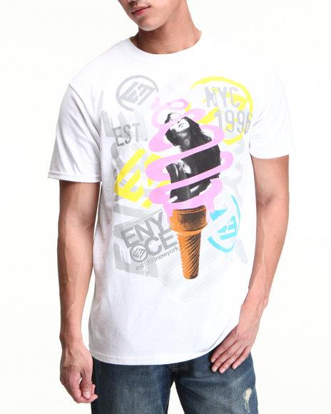 Enyce Men White Ice Cream T-Shirt