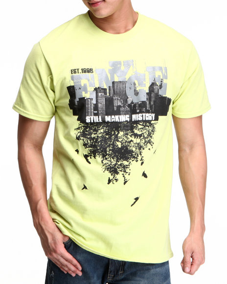 Enyce Men Lime Green,Yellow Making History T-Shirt