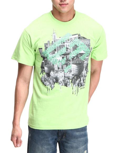 Enyce Men Lime Green New York New York T-Shirt
