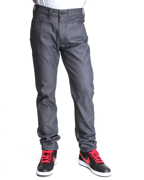 Levi's - Men Dark Wash 510 Super Skinny Fit Rigid Grey Jeans