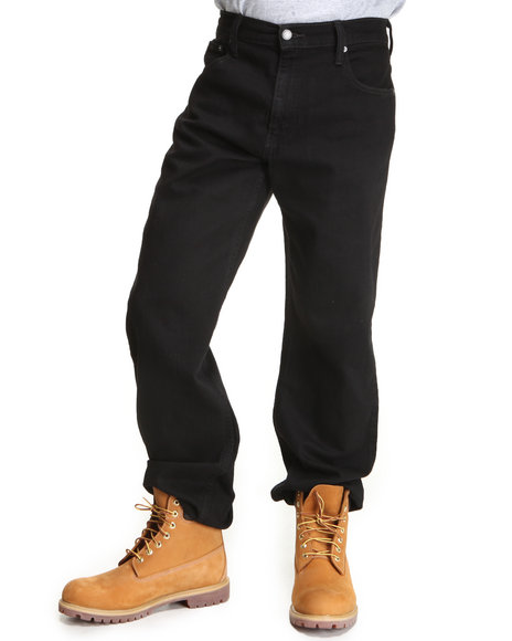 Levi's Black 569 Loose Straight Fit Black Jeans